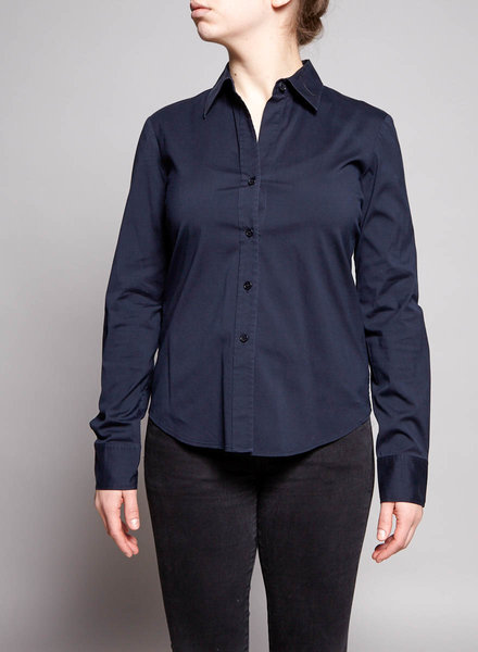 Theory NAVY STRETCH COTTON SHIRT
