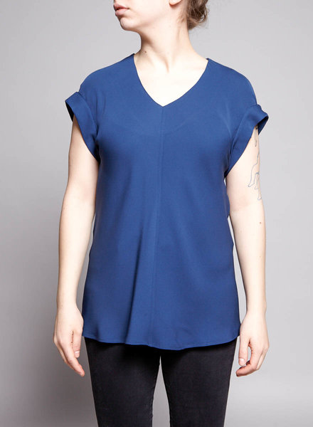 Theory COBALT BLUE SILK SHIRT