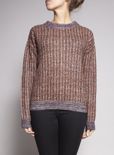 COS MULTICOLORED WOOL SWEATER WITH ZIPPER ON THE BACK