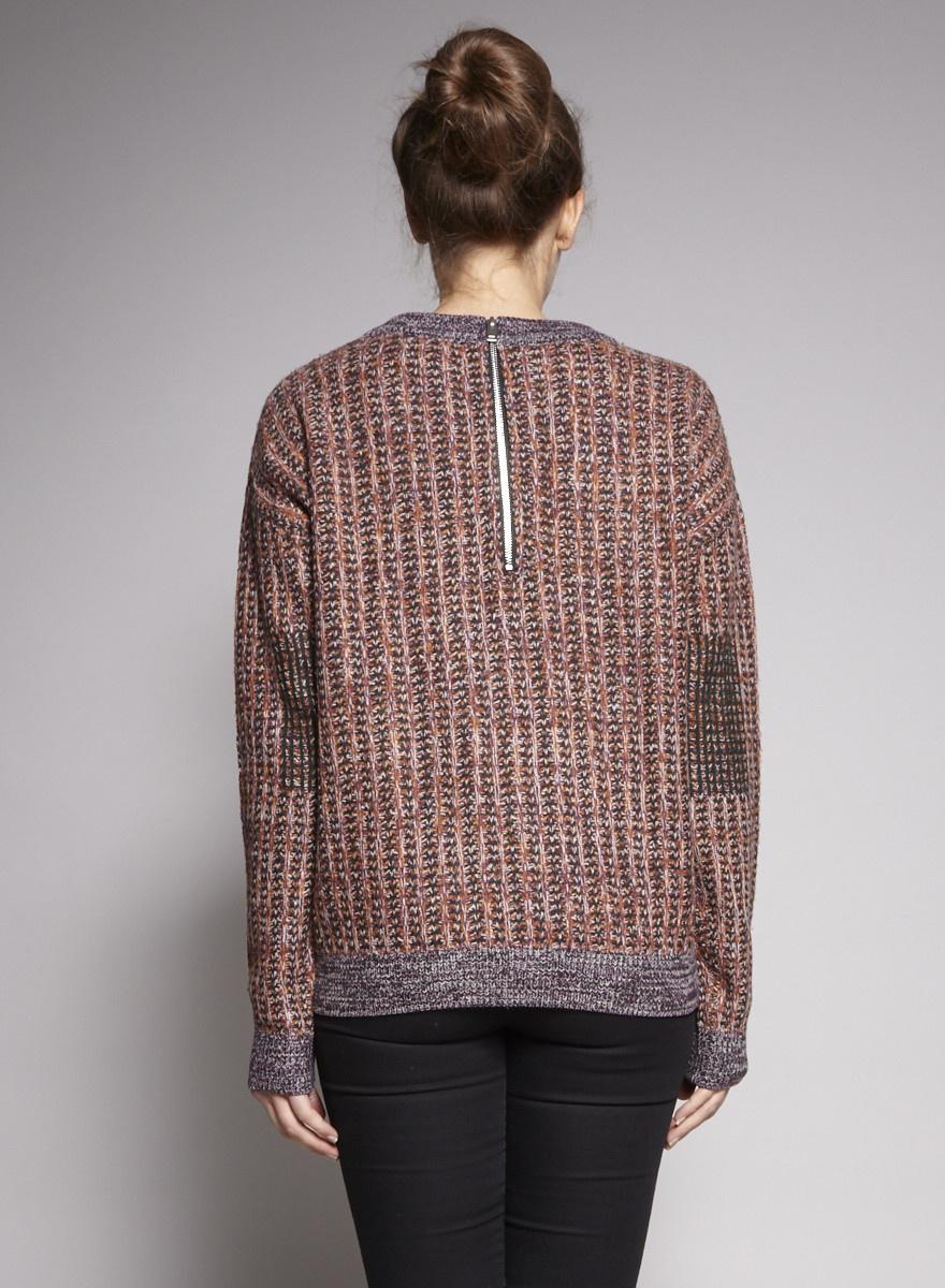 COS Pull multicolore à mailles glissées en laine