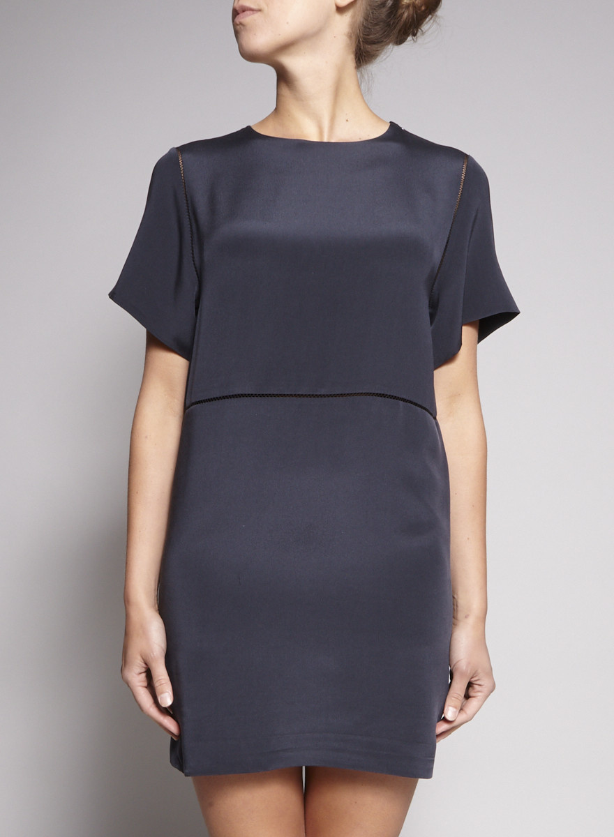Joseph Dark Blue Silk Dress