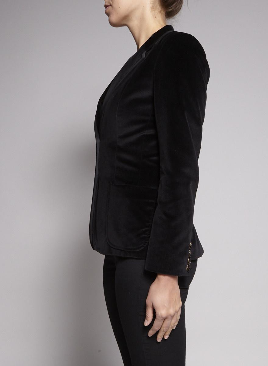 Barbara Bui Veston noir en velours