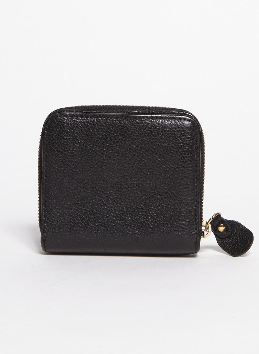 Chloé Portefeuille noir en cuir - Neuf