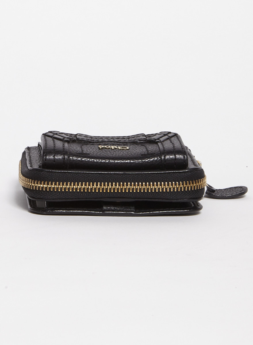 Chloé Black Leather Wallet - New