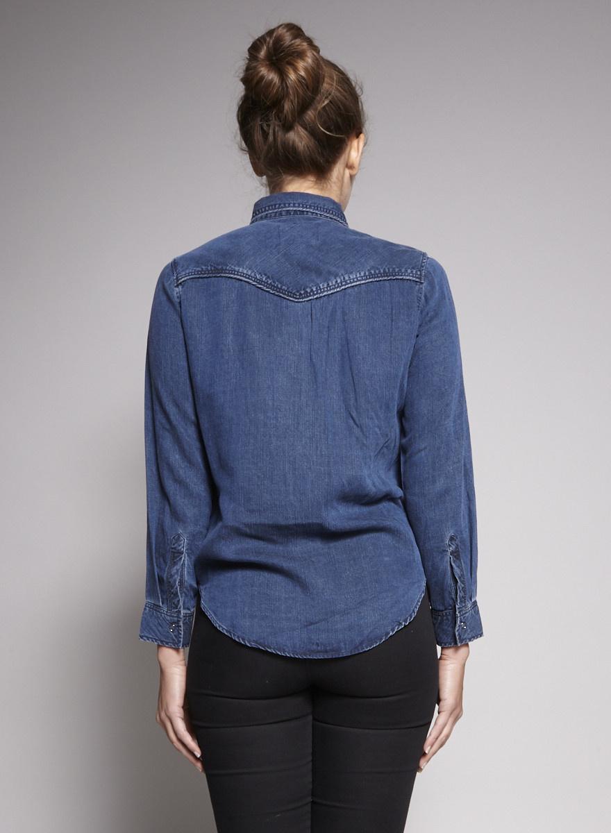 Rails Chemise en jeans bleu - Échantillon