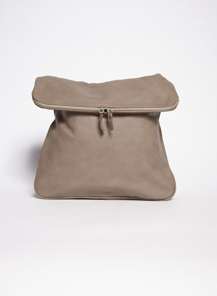 La canadienne BEIGE LEATHER HANDBAG