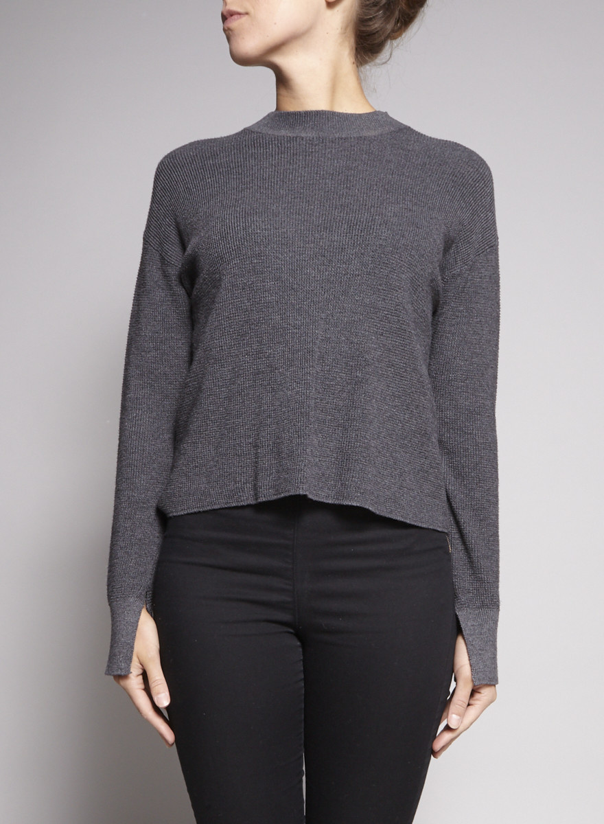 Line Charcoal Grey Knitted Sweater