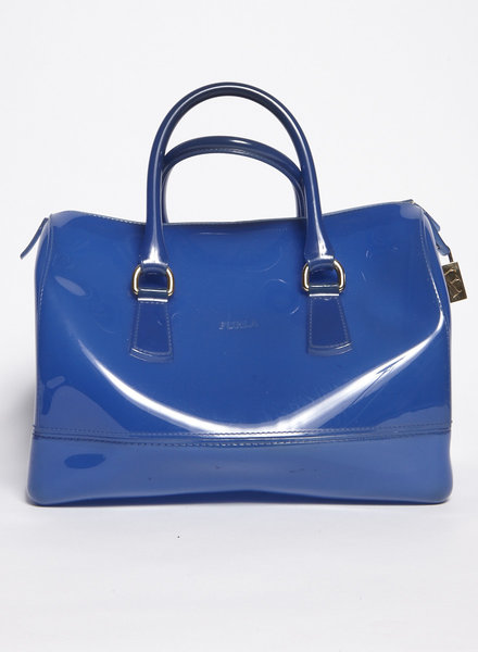 Furla COBALT BLUE PVC 'CANDY' BAG