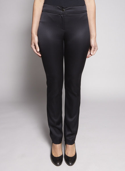 Chanel BLACK SILK PANTS
