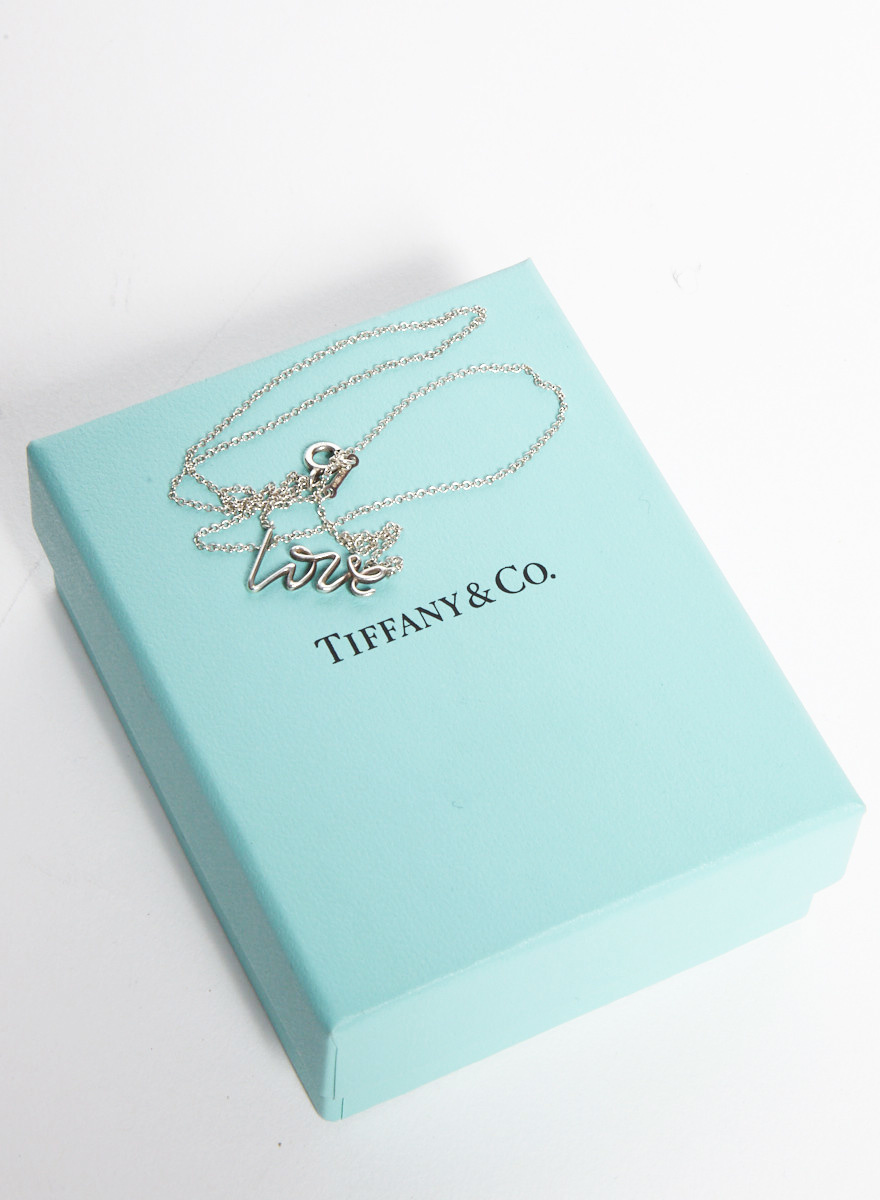 "Tiffany & Co. Paloma's Graffiti Sterling Silver ""Love"" Necklace"
