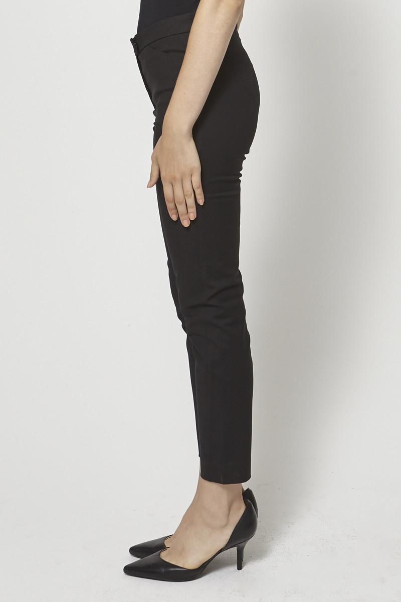 Joseph Pantalon noir en crêpe stretch