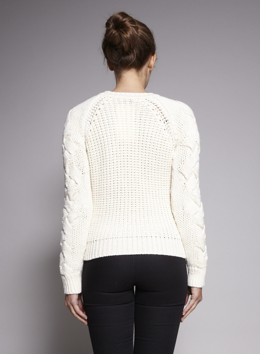 Maje Off-White Knitted Sweater
