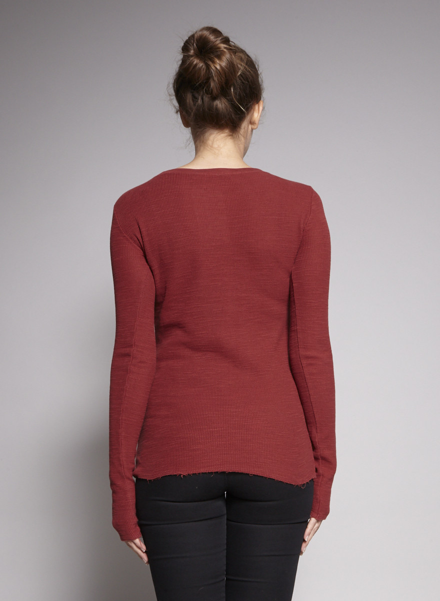 Vince Rust Sweater Embossed Mesh