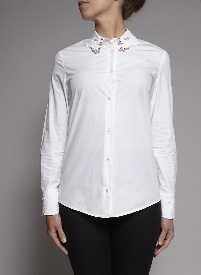 Vivetta White Embroidered Shirt