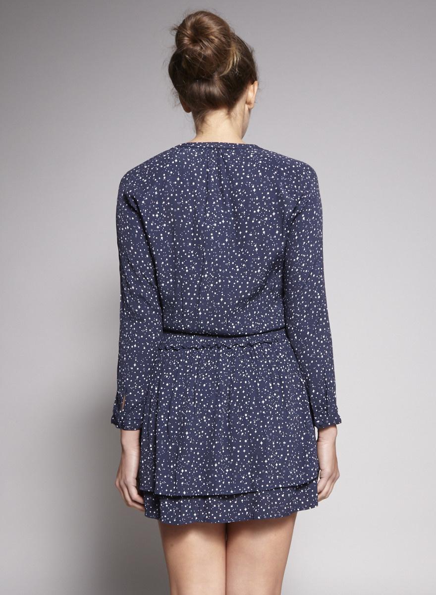 Rails Dark Blue Dress with Printed Stars - Sample