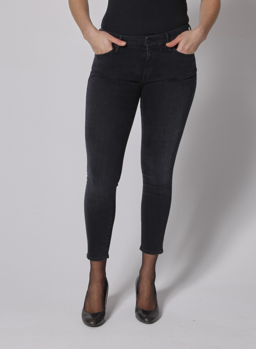 Mother Black Lightly Faded skinny jeans