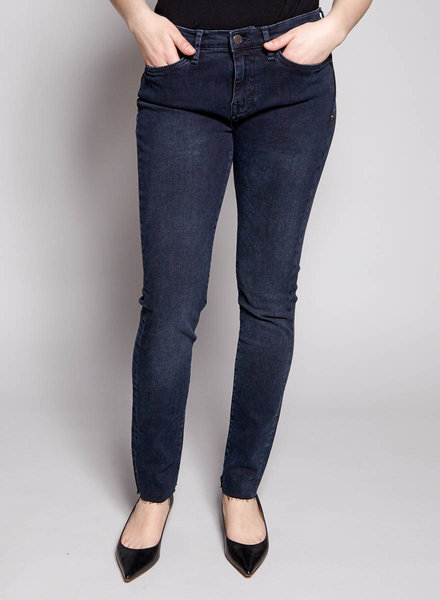 Imogene and Willie DARK BLUE FRAYED SKINNY JEANS