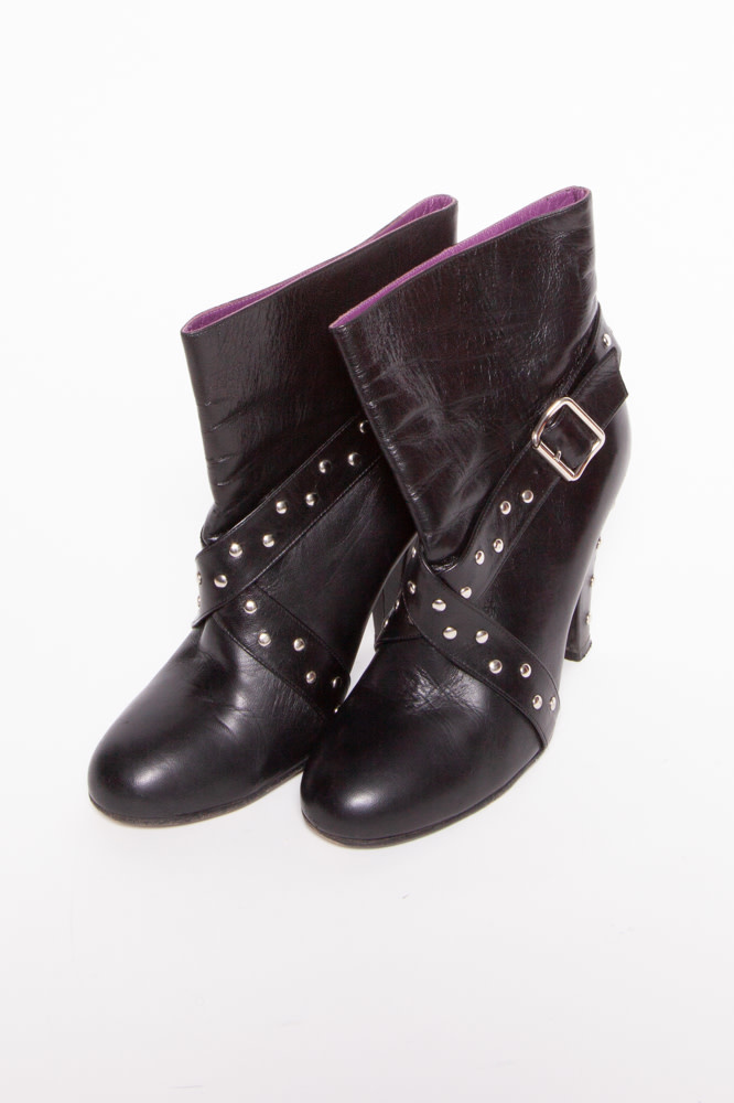 Marc Jacobs Black Studded Leather Boots
