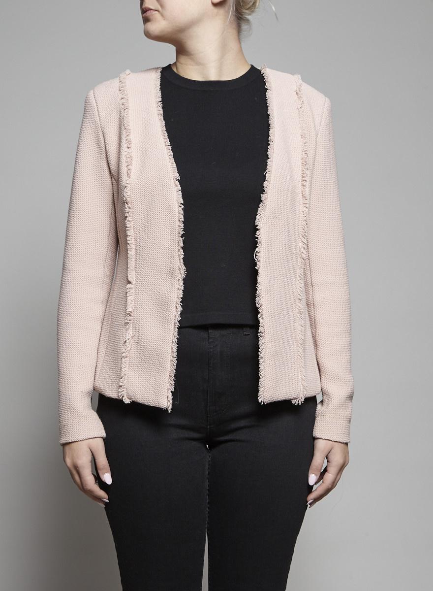 Iris Setlakwe Pink Knitted Blazer