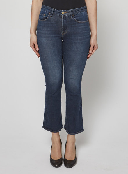 Frame DARK BLUE CROPPED FLARED JEANS