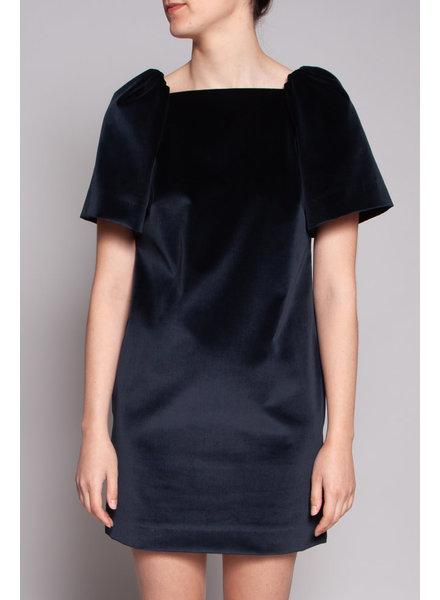 Annie Horth + Éditions de robes BLUE VELVET DRESS