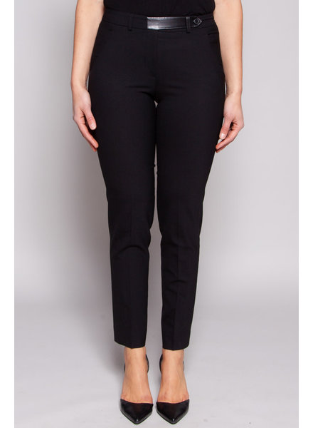 Judith & Charles TAILORED PANTS WITH LEATHER BELT