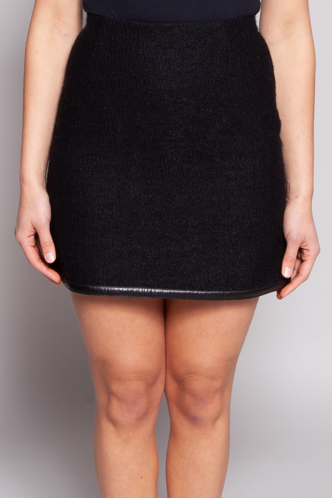 Prada Black Wool Skirt