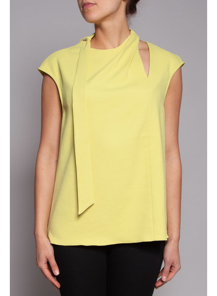 Tibi LIME GREEN SLEEVE LESS TOP - NEW