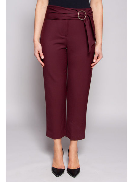 Club Monaco BURGUNDY PANTS WITH BELT