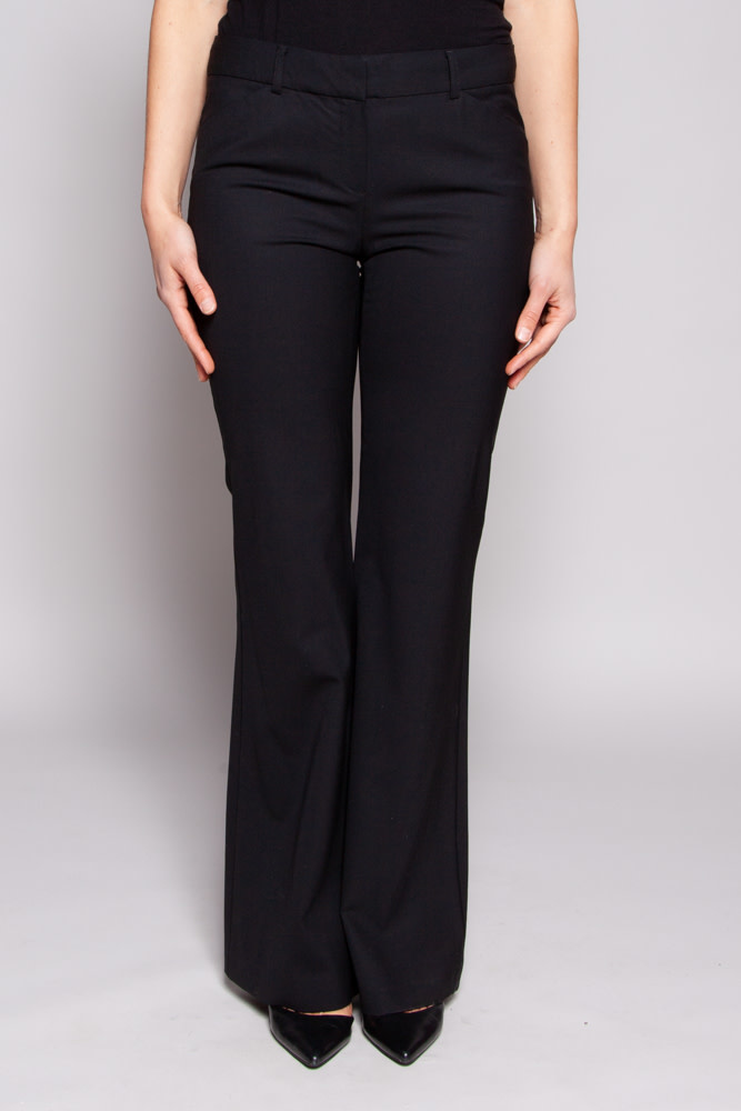 Theory Black Pants With Wide Legs