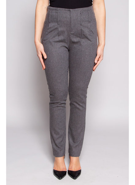 Eve Gravel GREY HIGH WAIST PANTS