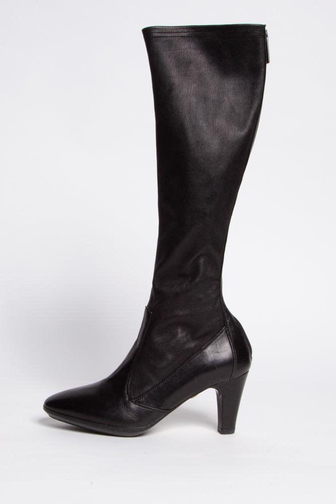 Aquatalia High Black Leather Boots
