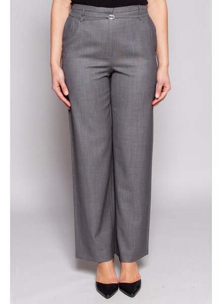 Gold Pfeil GREY WOOL TAILOR PANTS WITH BELT