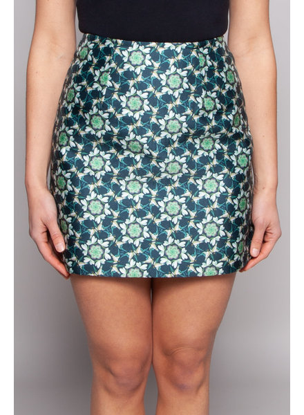 Ted Baker GREEN FLORAL-PRINT SKIRT