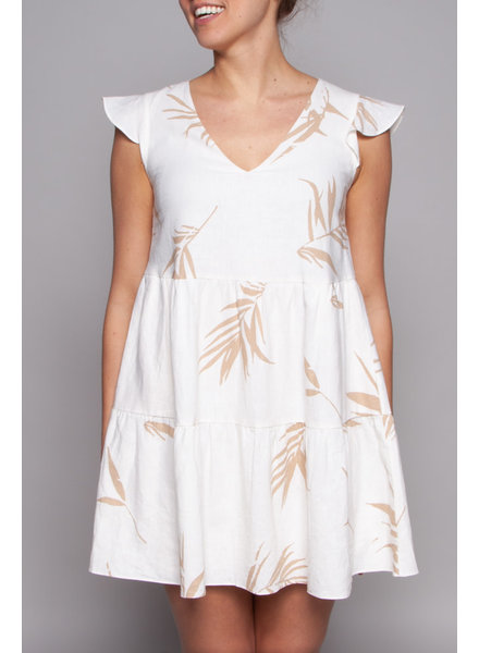 Rails PALM PRINT BEIGE DRESS - SAMPLE