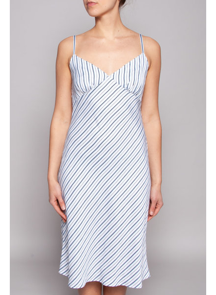 Michael Kors WHITE & BLUE STRIPED DRESS