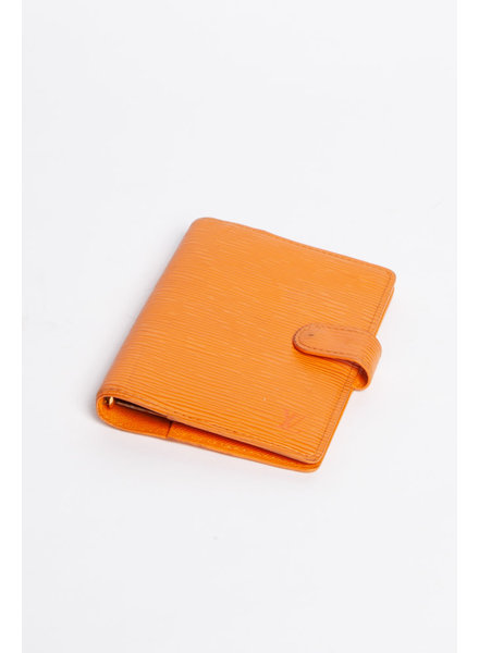 Louis Vuitton ORANGE EPI LEATHER AGENDA