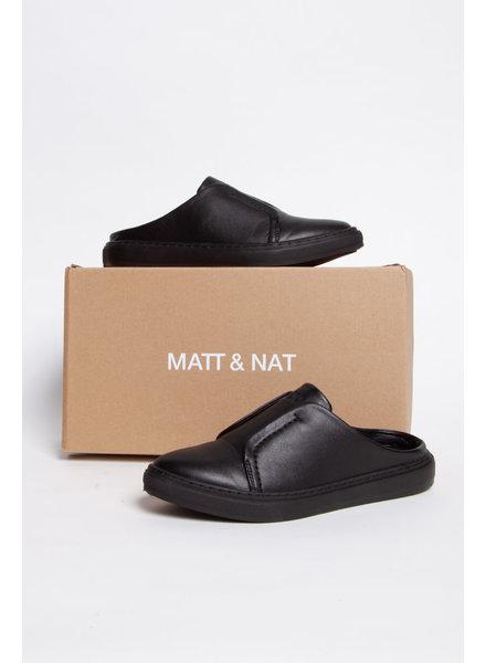 Matt & Nat BLACK VEGAN LEATHER MULES