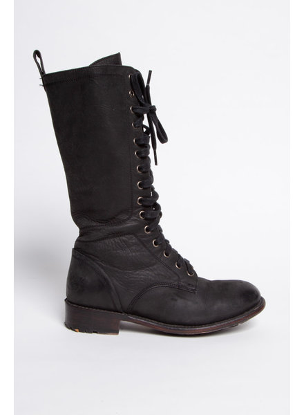 John Fluevog BLACK HIGH BOOTS WITH LACES