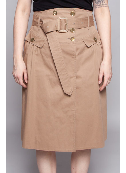 Burberry BEIGE WRAP SKIRT