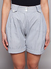 Chalayan White And Blue Striped Shorts
