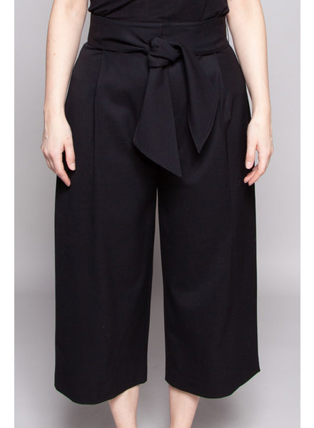 Club Monaco BLACK WOOL WIDE-LEG PANTS