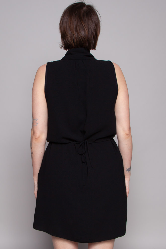 Wilfred Black Wrap Dress