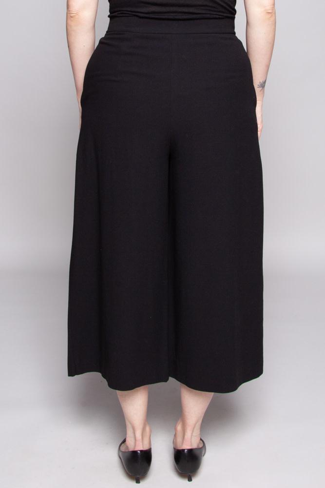 COS Black Wide-Leg Pants