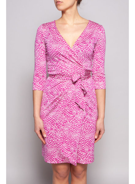 Diane von Furstenberg PINK SILK WRAP DRESS