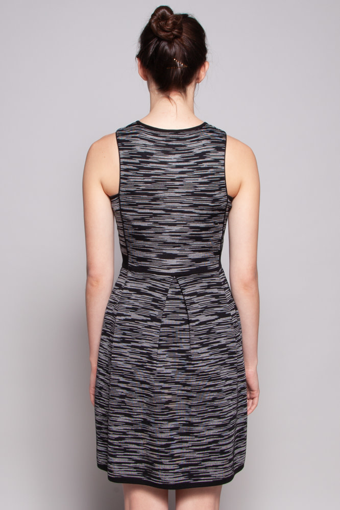 M Missoni Black Dress with White Stripes