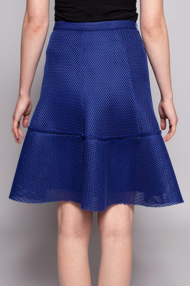 Pink Tartan Perforated Blue Skirt