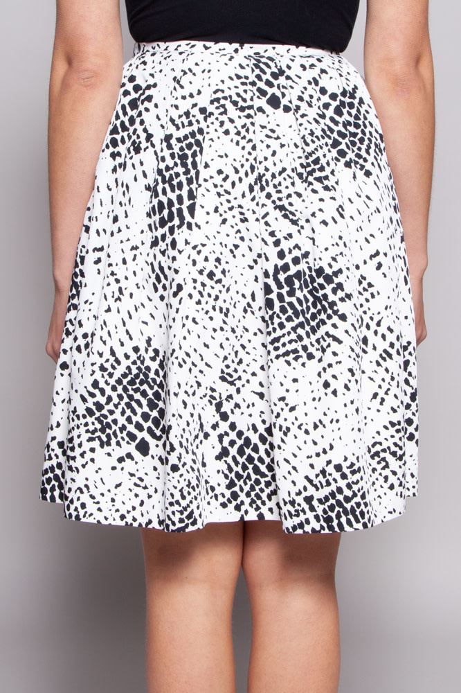 Pink Tartan White Black Spotted Skirt