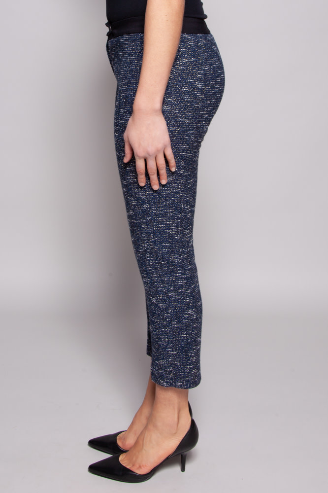 Axara White & Blue Pant with Sparkly Threads