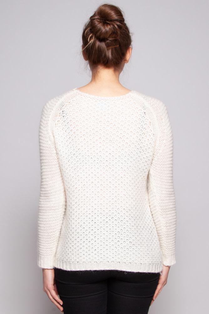 Berenice Pull blanc en tricot